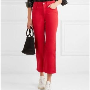 3 X 1 Red Jean High Rise Flare
